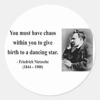 Cita 6b de Nietzsche Pegatina Redonda