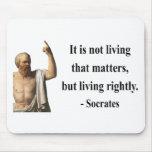 Cita 6b de Sócrates Alfombrilla De Ratón