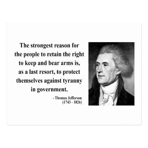 Cita 6b de Thomas Jefferson Postal