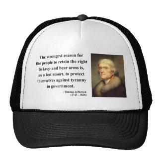 Cita 6c de Thomas Jefferson Gorros Bordados