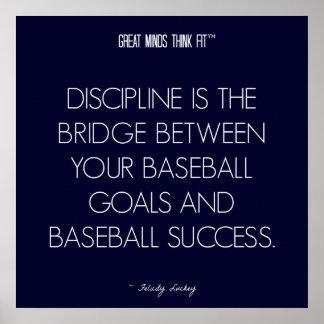 Cita 7 del béisbol: Disciplina para el poster del