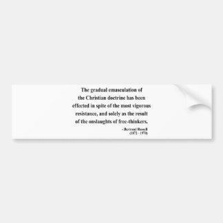 Cita 7a de Bertrand Russell Etiqueta De Parachoque