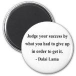 cita 7a de Dalai Lama Iman Para Frigorífico