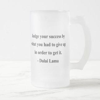 cita 7a de Dalai Lama Taza Cristal Mate