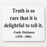 Cita 7a de Emily Dickinson Alfombrillas De Ratones