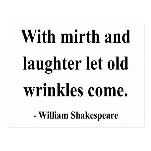 Cita 7a de Shakespeare Tarjetas Postales