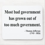 Cita 7a de Thomas Jefferson Tapetes De Ratón
