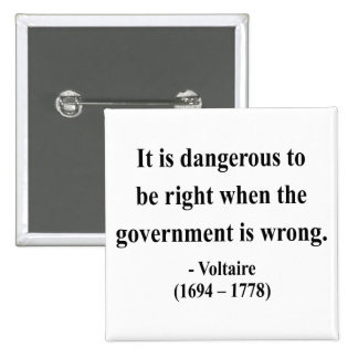 Cita 7a de Voltaire Pin Cuadrada 5 Cm
