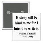 Cita 7a de Winston Churchill Pin
