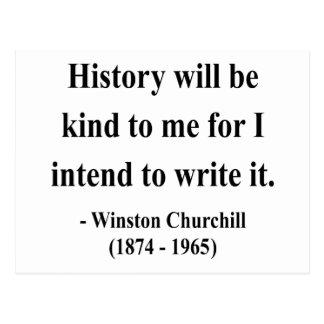 Cita 7a de Winston Churchill Postal