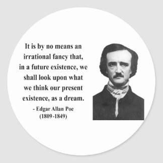 Cita 7b de Edgar Allen Poe Pegatinas Redondas