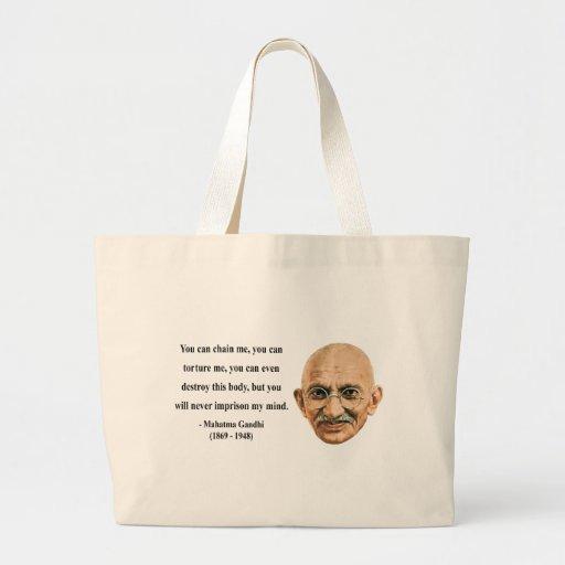 Cita 7b de Gandhi Bolsa Tela Grande