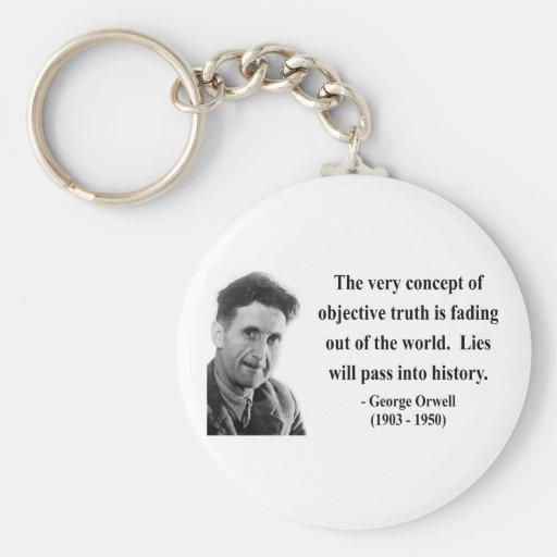 Cita 7b de George Orwell Llavero Redondo Tipo Pin