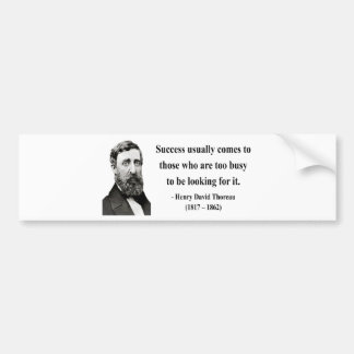 Cita 7b de Thoreau Pegatina De Parachoque
