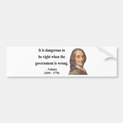 Cita 7b de Voltaire Pegatina Para Auto