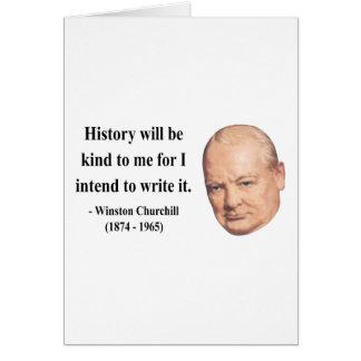 Cita 7b de Winston Churchill Tarjeton