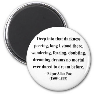 Cita 8a de Edgar Allen Poe Iman Para Frigorífico