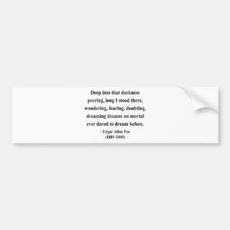 Cita 8a de Edgar Allen Poe Pegatina Para Auto
