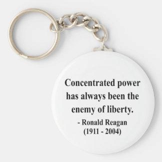 Cita 8a de Reagan Llavero Redondo Tipo Pin