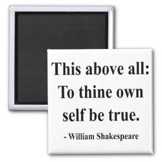 Cita 8a de Shakespeare Imán Cuadrado