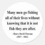 Cita 8a de Thoreau Pegatina Redonda
