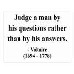 Cita 8a de Voltaire Tarjeta Postal