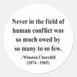 Cita 8a de Winston Churchill Etiqueta Redonda
