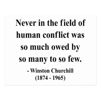 Cita 8a de Winston Churchill Postal