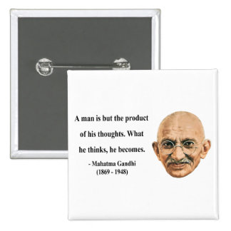Cita 8b de Gandhi Pin Cuadrada 5 Cm