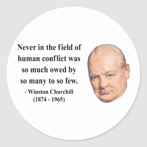 Cita 8b de Winston Churchill Etiqueta Redonda