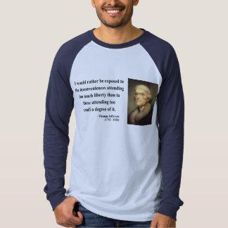 Cita 8c de Thomas Jefferson Camisas