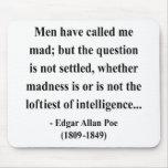 Cita 9a de Edgar Allen Poe Alfombrillas De Ratones