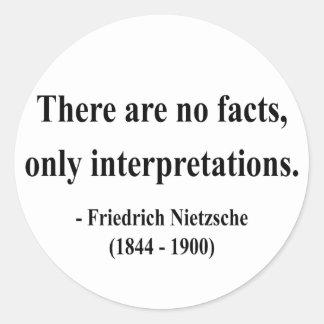 Cita 9a de Nietzsche Pegatinas Redondas