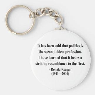 Cita 9a de Reagan Llavero Redondo Tipo Pin