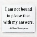 Cita 9a de Shakespeare Alfombrilla De Ratones