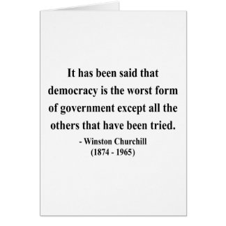 Cita 9a de Winston Churchill Felicitacion