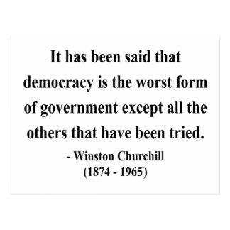 Cita 9a de Winston Churchill Postal