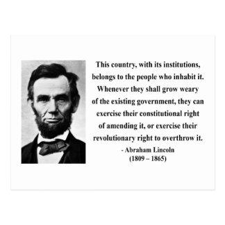 Cita 9b de Abraham Lincoln Postal