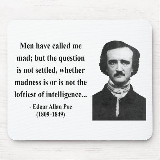 Cita 9b de Edgar Allen Poe Alfombrillas De Ratones