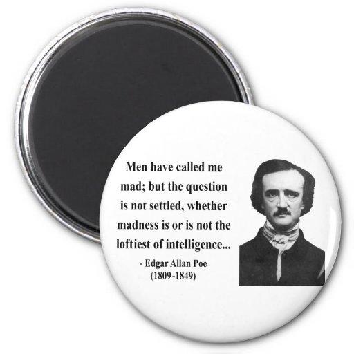 Cita 9b de Edgar Allen Poe Imán Redondo 5 Cm