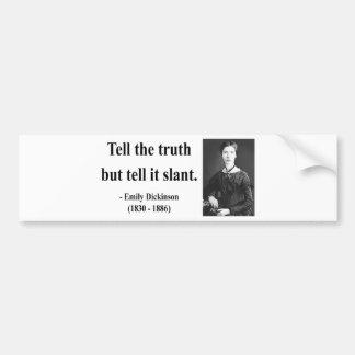 Cita 9b de Emily Dickinson Pegatina Para Auto