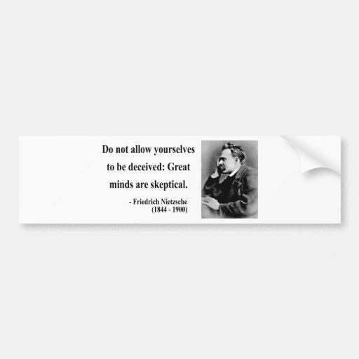 Cita 9b de Nietzsche Etiqueta De Parachoque