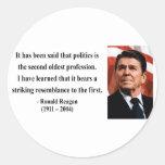 Cita 9b de Reagan Pegatinas Redondas