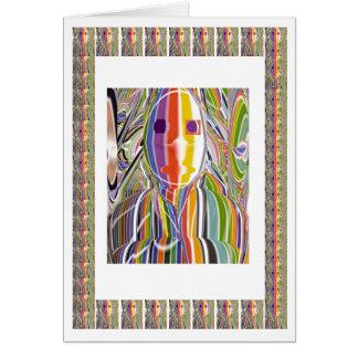 Cita a ciegas - hombre del arco iris tarjeta de felicitación