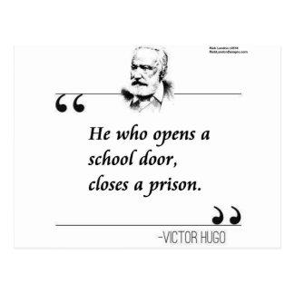 Cita abierta de la puerta de la escuela de Victor  Postal