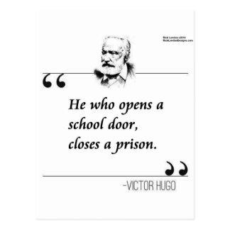 Cita abierta de la puerta de la escuela de Victor  Tarjetas Postales