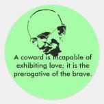 Cita adaptable de Mohandas Gandhi Pegatina Redonda