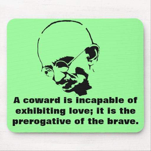 Cita adaptable de Mohandas Gandhi Alfombrillas De Raton