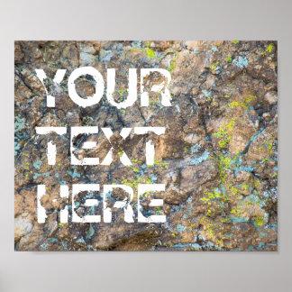 Cita adaptable en el poster de la roca el | póster