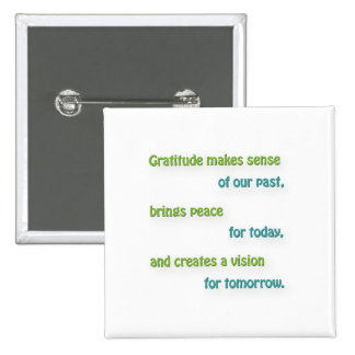 Cita agradecida - la gratitud tiene sentido de chapa cuadrada 5 cm